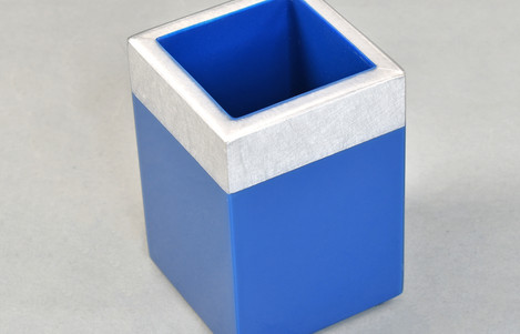 Shine Silver/True Blue- Brush Cup