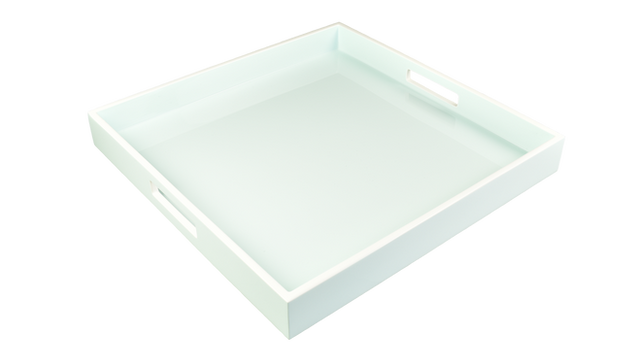 """Duck Egg Blue with White- 16"""" Square Tray"""