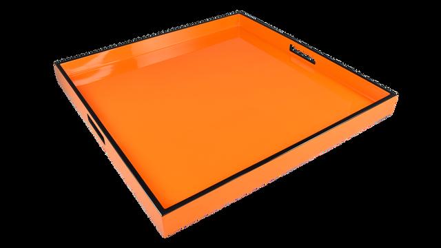 Orange with Black Trim- Large Square Tray