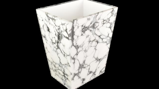 Cream Carrara- Rectangular Wastebasket