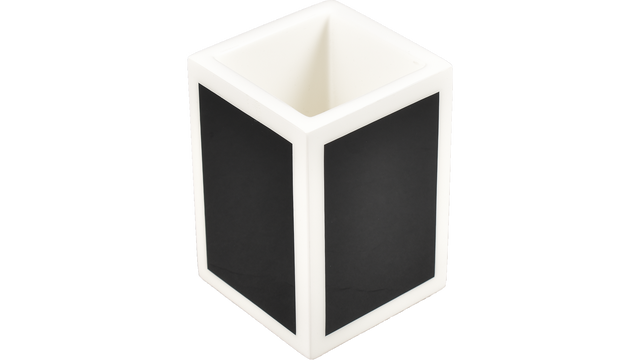 Black with White Trim- Brush Cup
