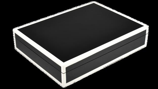 Black with White Trim- Stationery Box