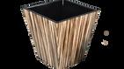 Zebra Wood- Wastebasket