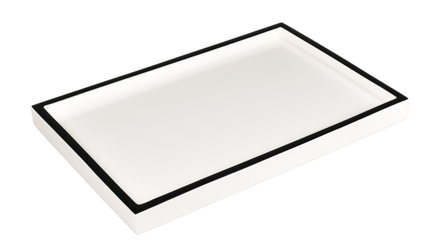 White with Black Trim- Vanity Tray