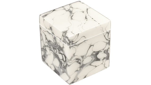 Cream Carrara- Q-Tip Box