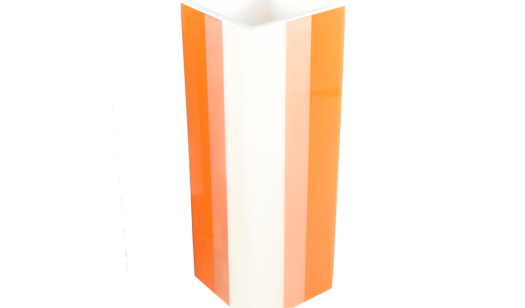 Flower Vase- Orange Copper White