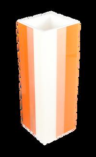Flower Vase- Orange Copper White
