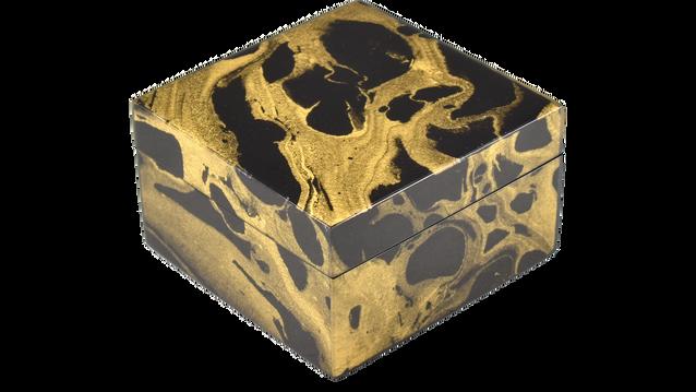 Black Gold Marble- Squre Box