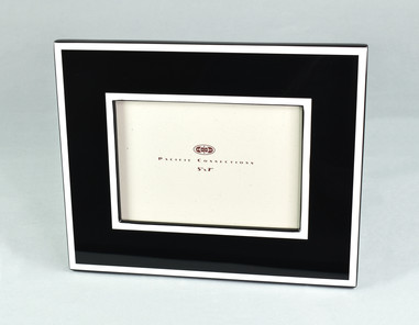 Black with White Trim- Picture Frame
