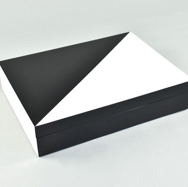 "White ""N"" Black- Stationery Box"