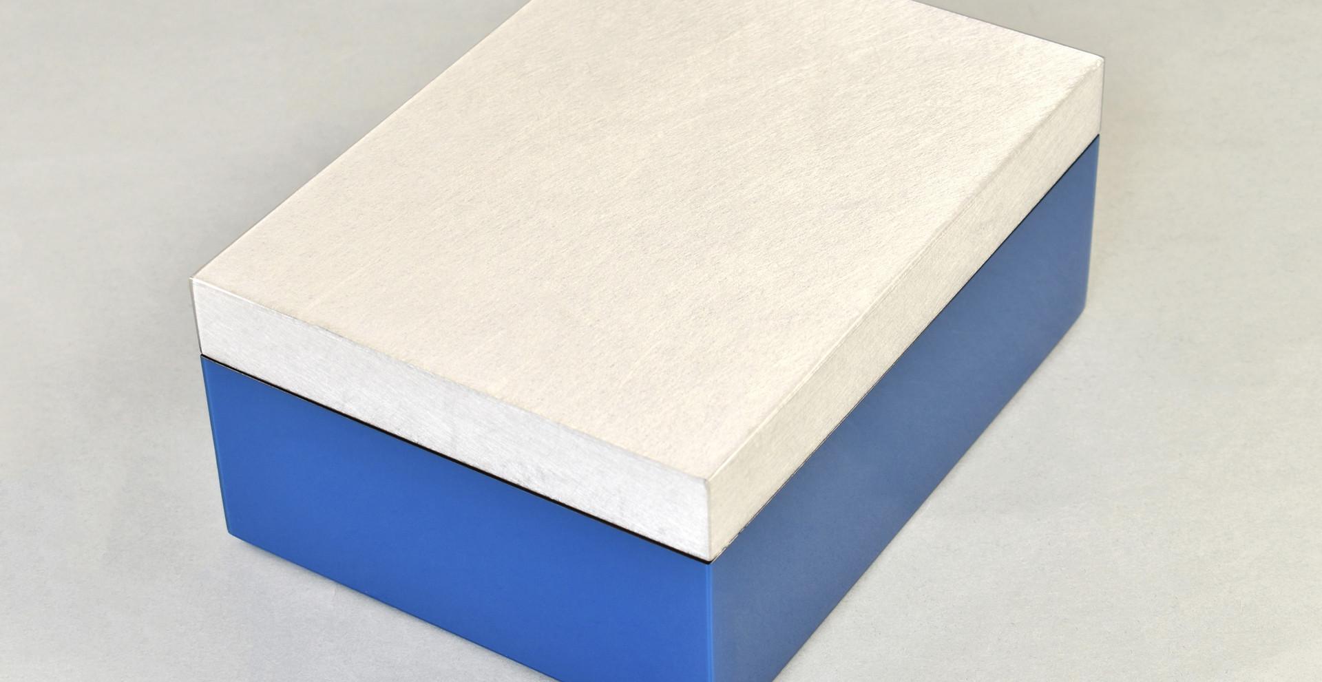 Shine Silver/True Blue- Medium Box
