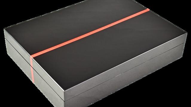 Red Tulipwood Band - Stationery Box