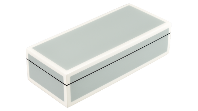 Five Side Cool Gray with White- Pencil Box