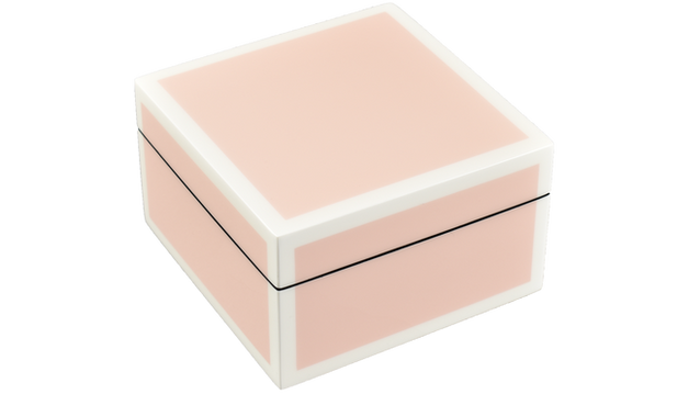 Paris Pink with White Trim- Square Box