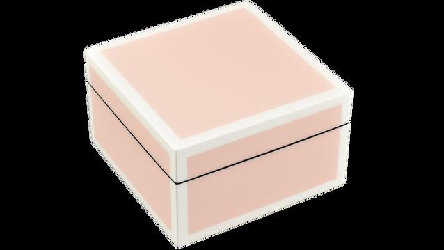 Paris Pink with White Trim- Square Box