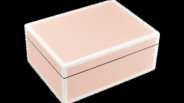 Paris Pink with White Trim- Medium Box