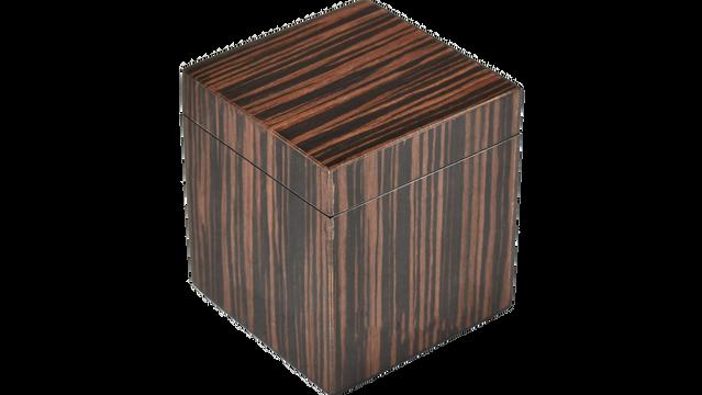 Macassar Ebony- Q-Tip Box
