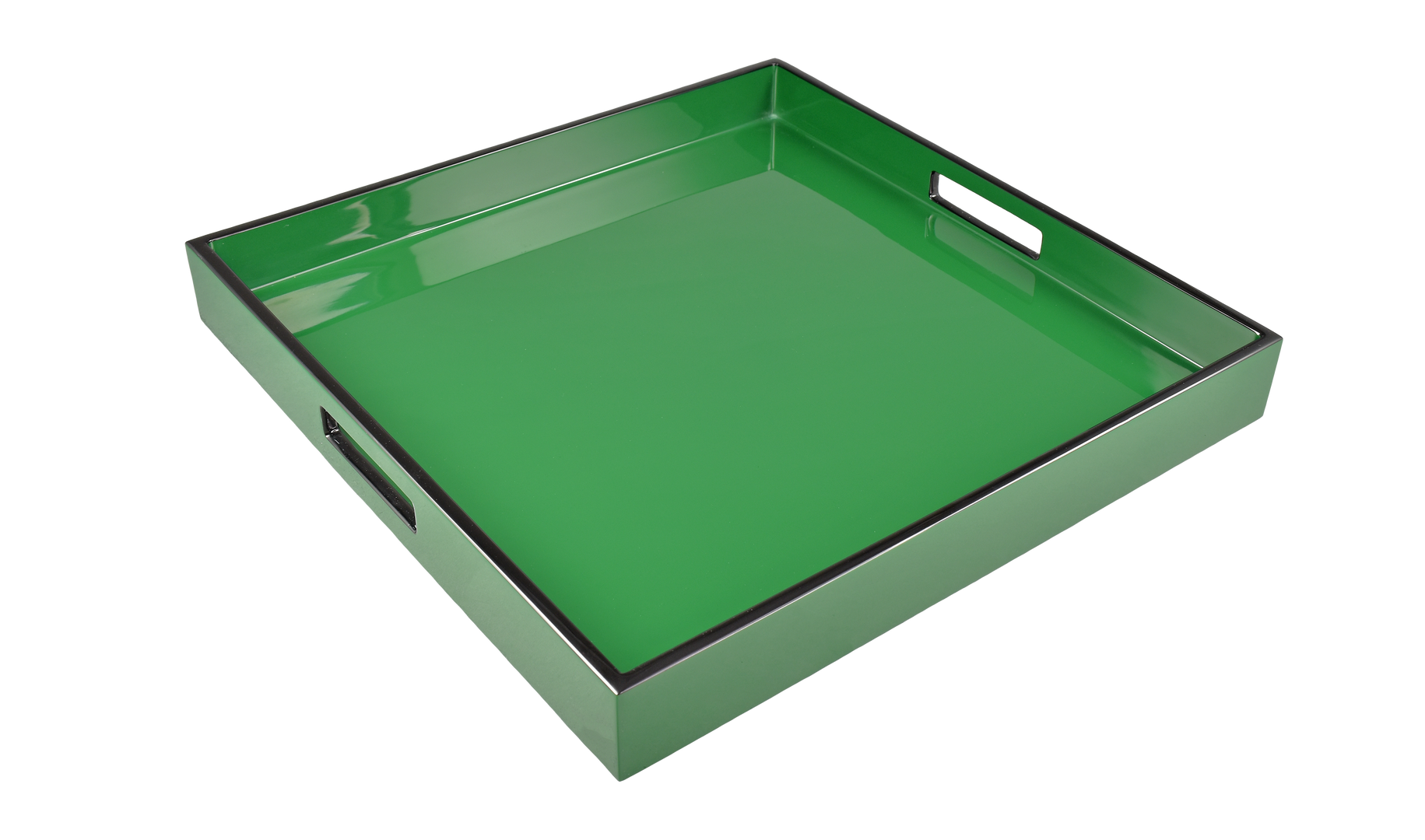 "Hunter Green- 16"" Square Tray"