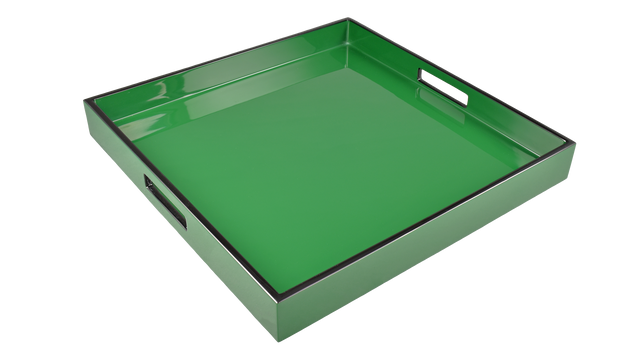 "Hunter Green- 16"" Square Tray"