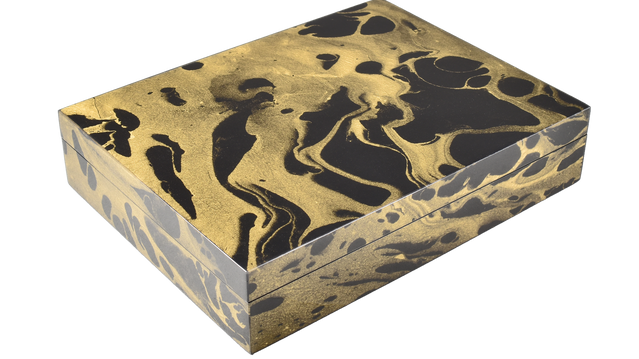 Black Gold Marble- Stationery Box