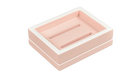 Paris Pink with White Trim- Soap Dish