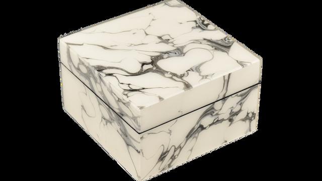 Cream Carrara- Square Box