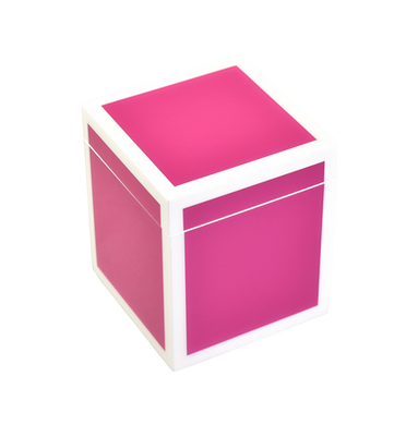 Hot Pink with White- Q-Tip Box