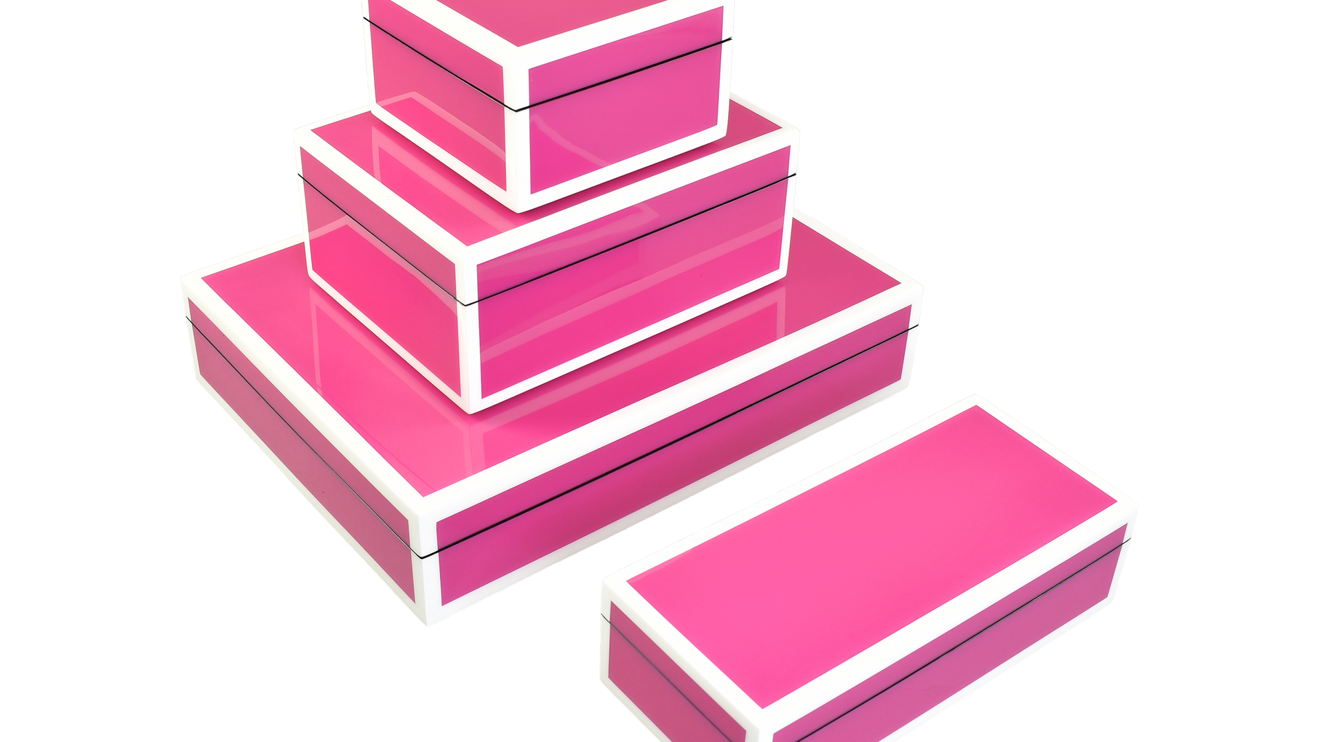 Hot Pink with White- Boxes