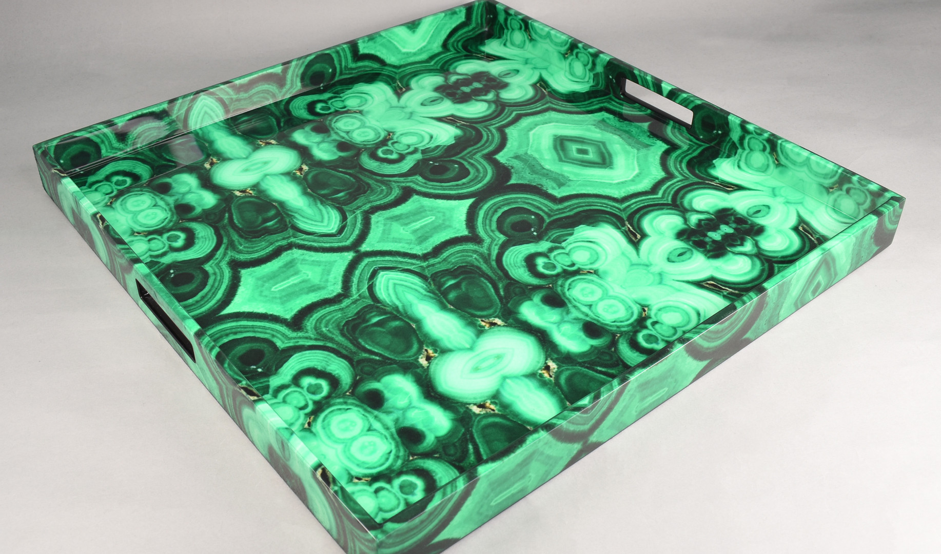 Malachite - Large Square Tray