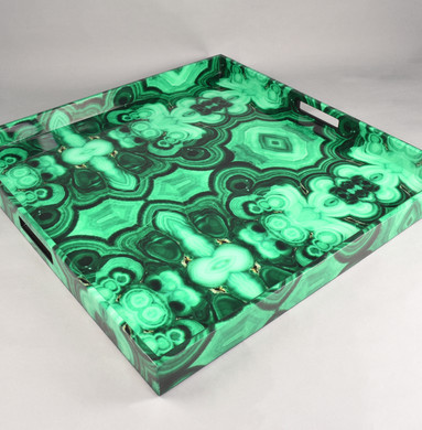 Malachite - Large Square Tray