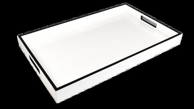 White with Black Trim- Breakfast Tray