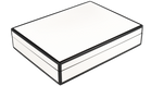 Five Side White with Black- Stationery Box