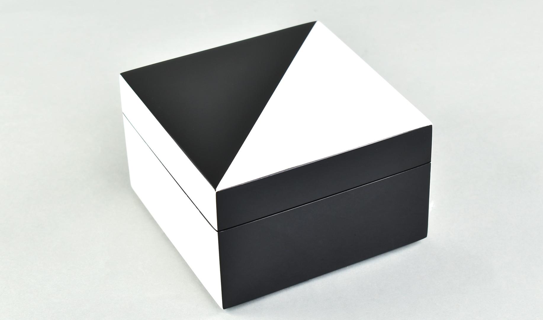 "White ""N"" Black- Square Box"