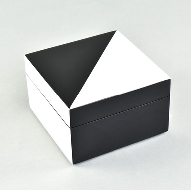 "White ""N"" Black- Square Box"