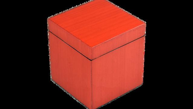 Red Tulipwood- Q-Tip Box