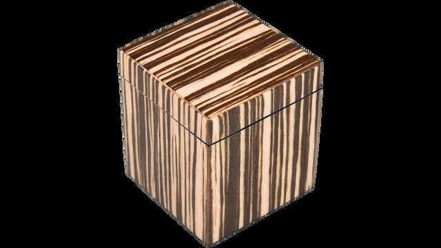 Zebra Wood- Q-Tip Box