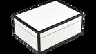 Five Side White with Black- Medium Box