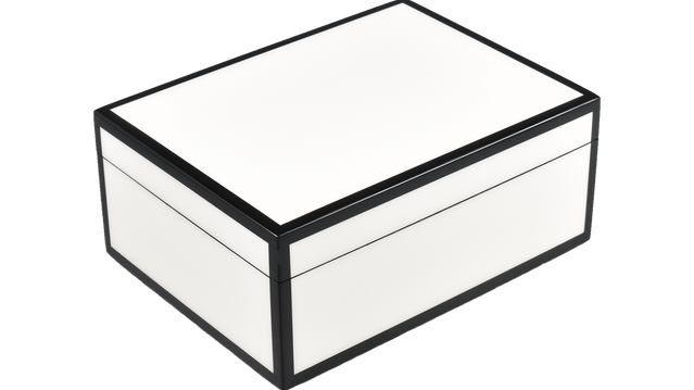 Five Side White with Black- Medium Box