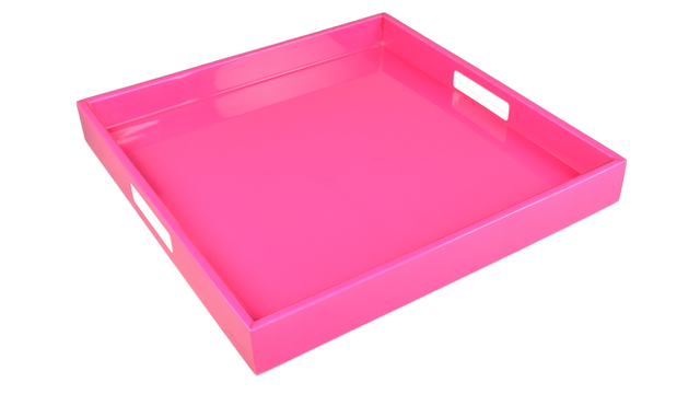Hot Pink- Square Tray