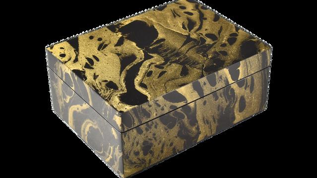 Black Gold Marble- Medium Box