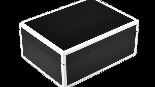 Black with White Trim- Medium Box