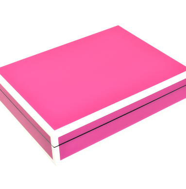 Hot Pink with Pink- Stationery Box