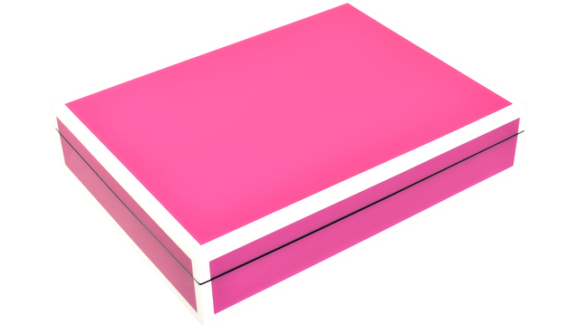Hot Pink with White- Stationery Box