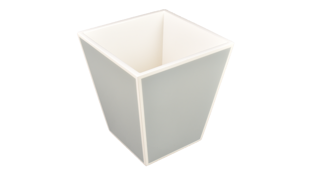 Cool Gray White Trim- Waste Basket