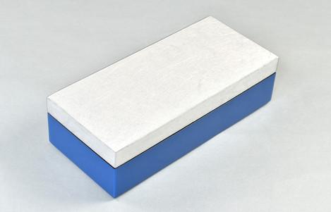 Shine Silver/True Blue- Pencil Box
