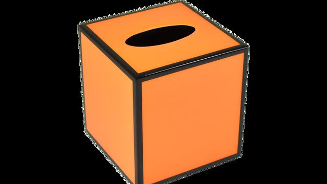 Orange Black Trim- Tissue Cover