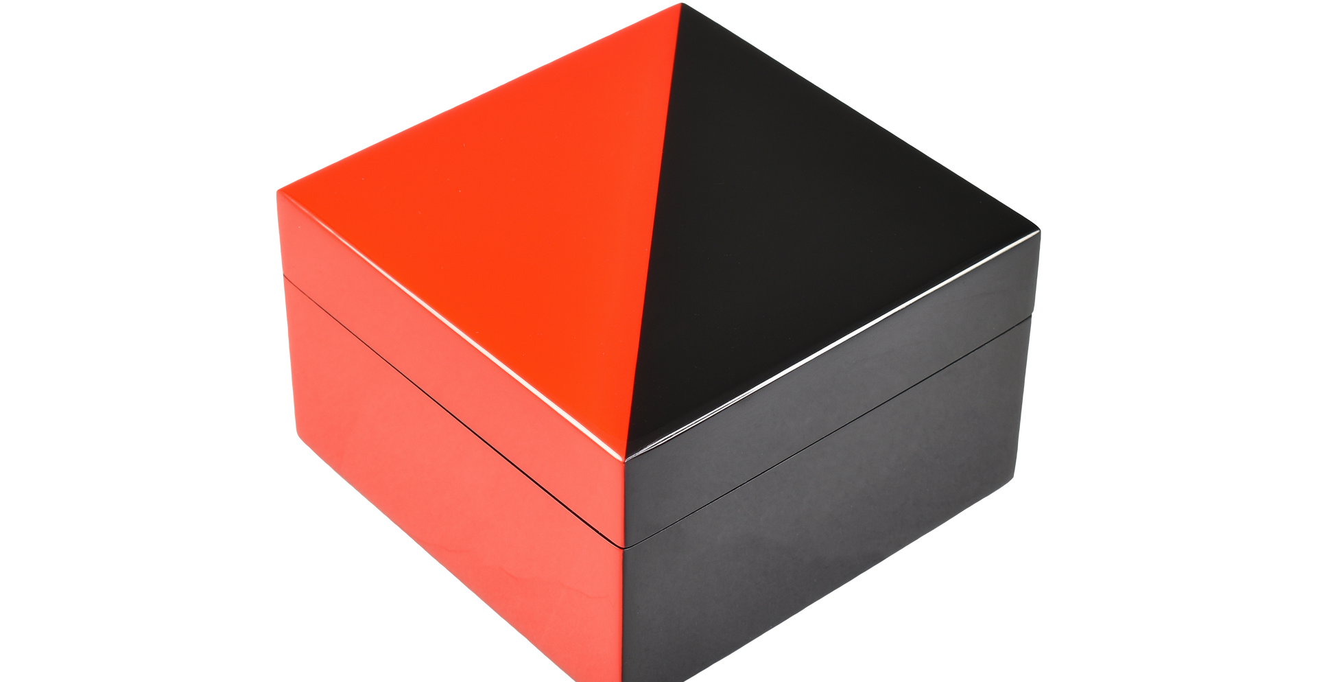 "Red ""N"" Black- Square Box"