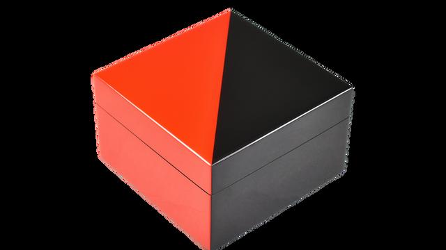 """Red """"N"""" Black- Square Box"""