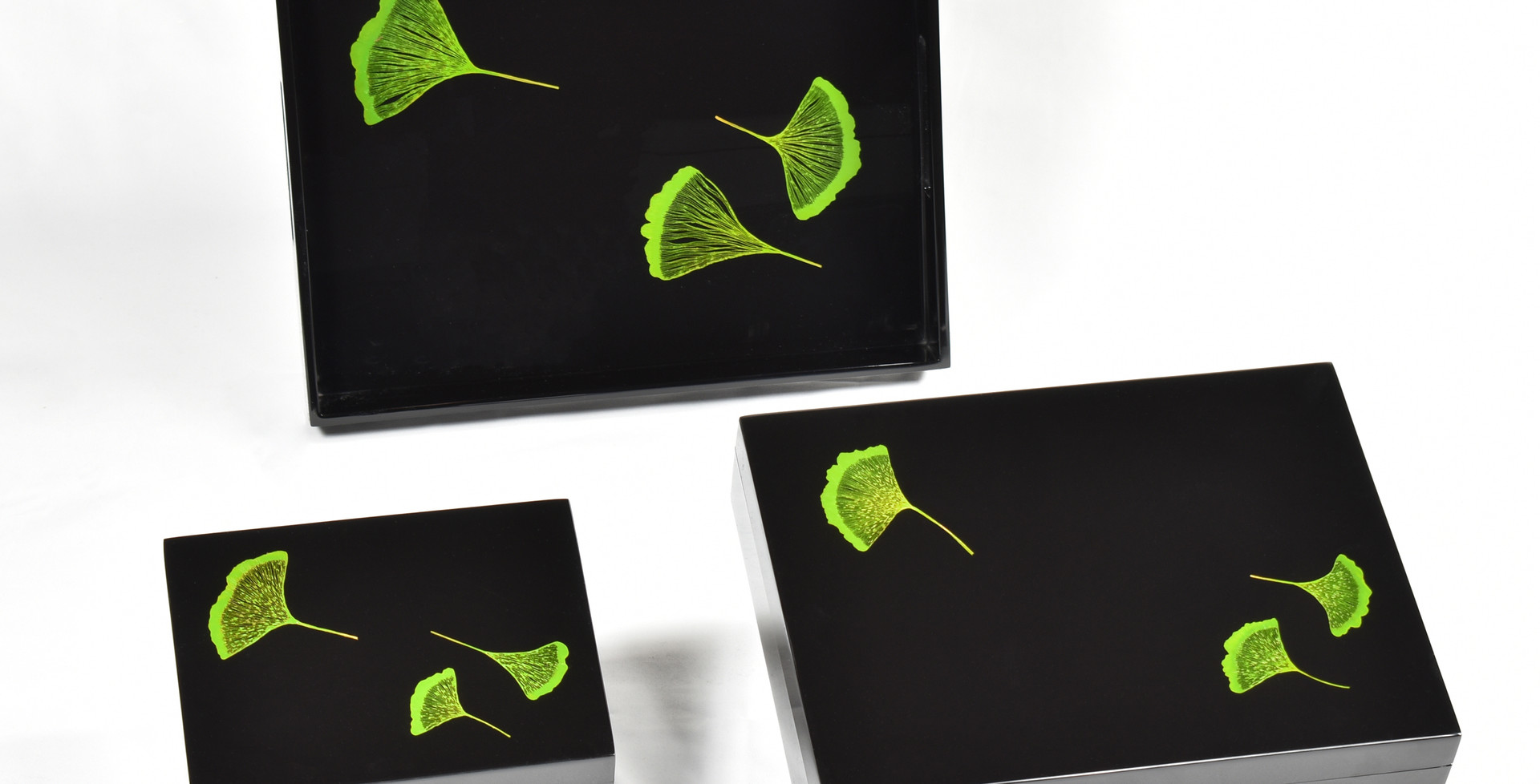 Ginko Leaf- Boxes and Tray