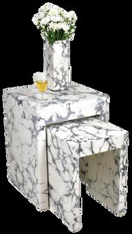 Nested Tables- Cream Cararra